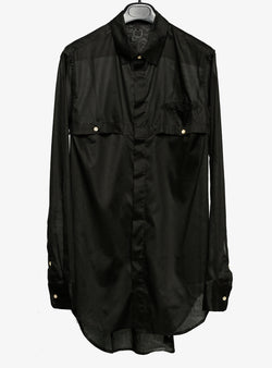 CRIES SHEER SHIRT BLACK