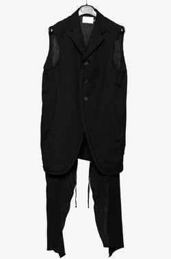 LOBO DOUBLE LAYERED VEST BLACK