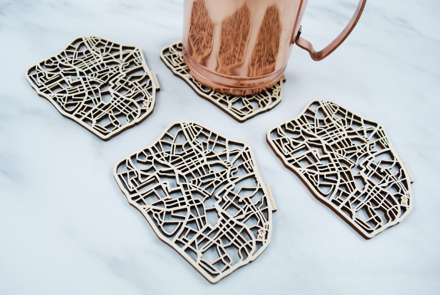 Birmingham Map Coasters (set of 4)