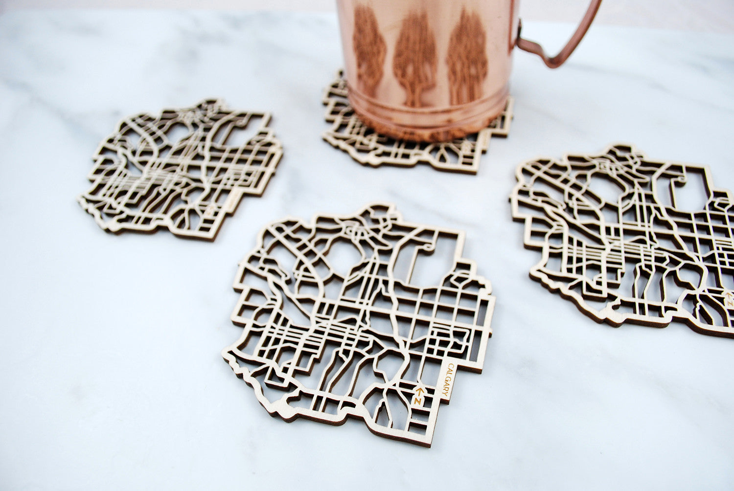 Calgary Map Coasters (set of 4)