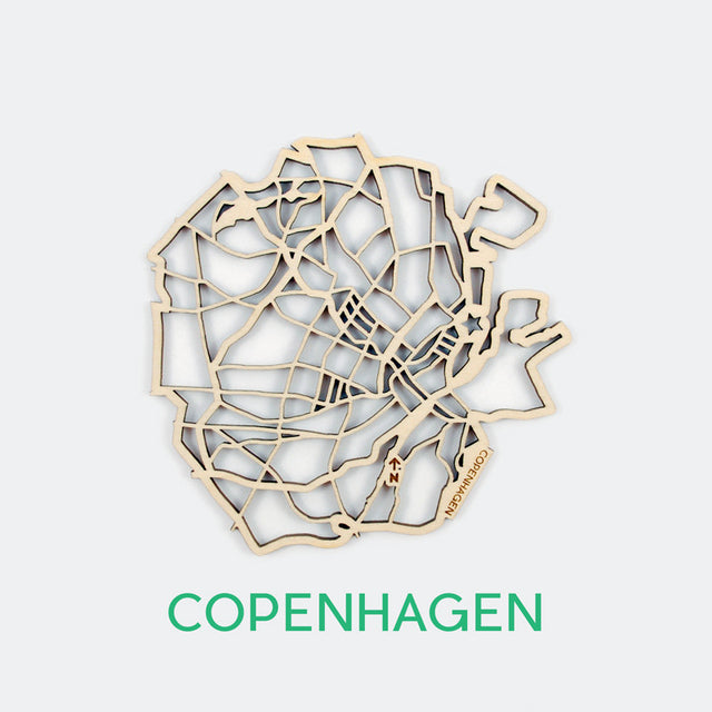 Copenhagen Map Coasters (set of 4)