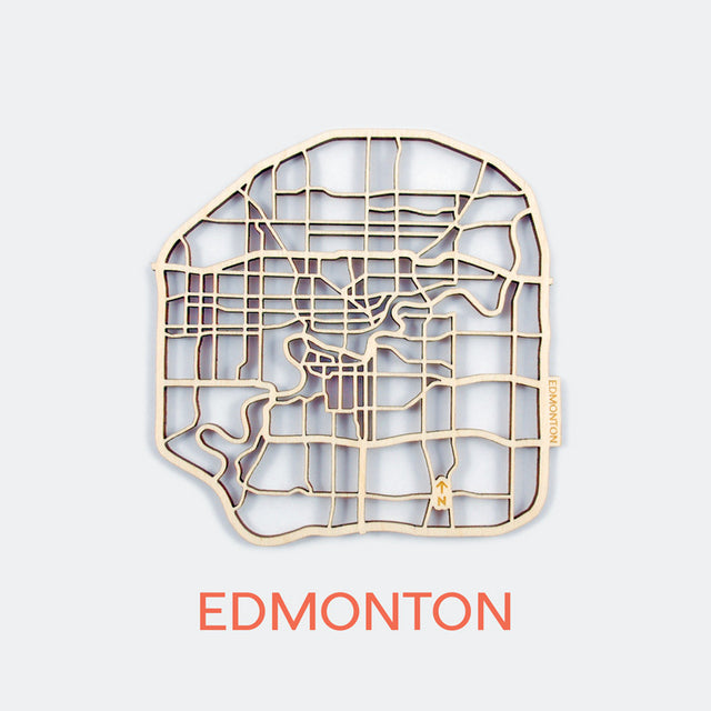 Edmonton Map Coasters (set of 4)