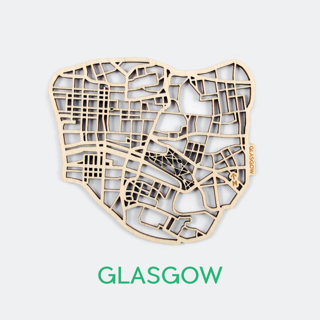 Glasgow Map Coasters (set of 4)