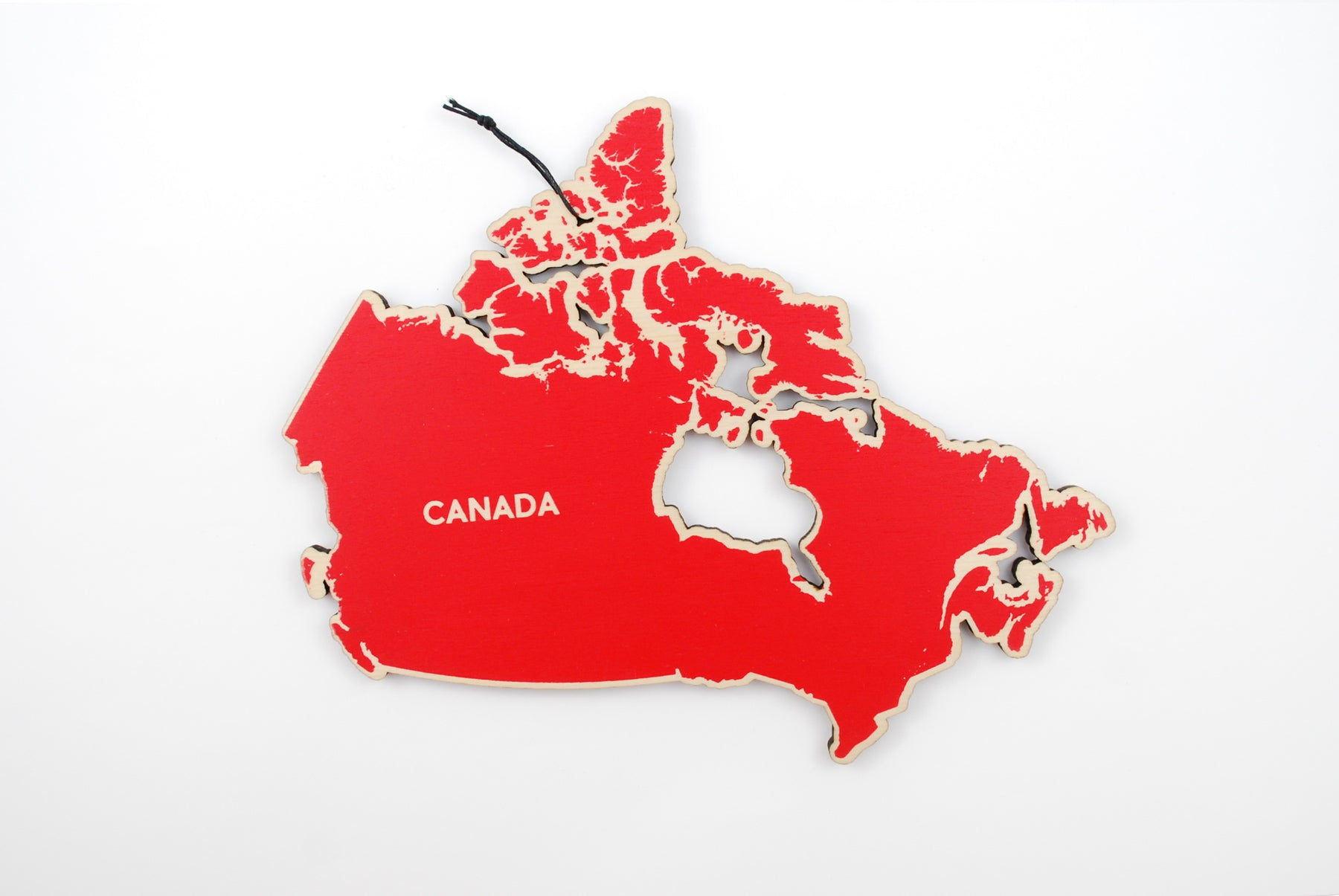 Map Of Canada Red.Canada Map Trivet Printed