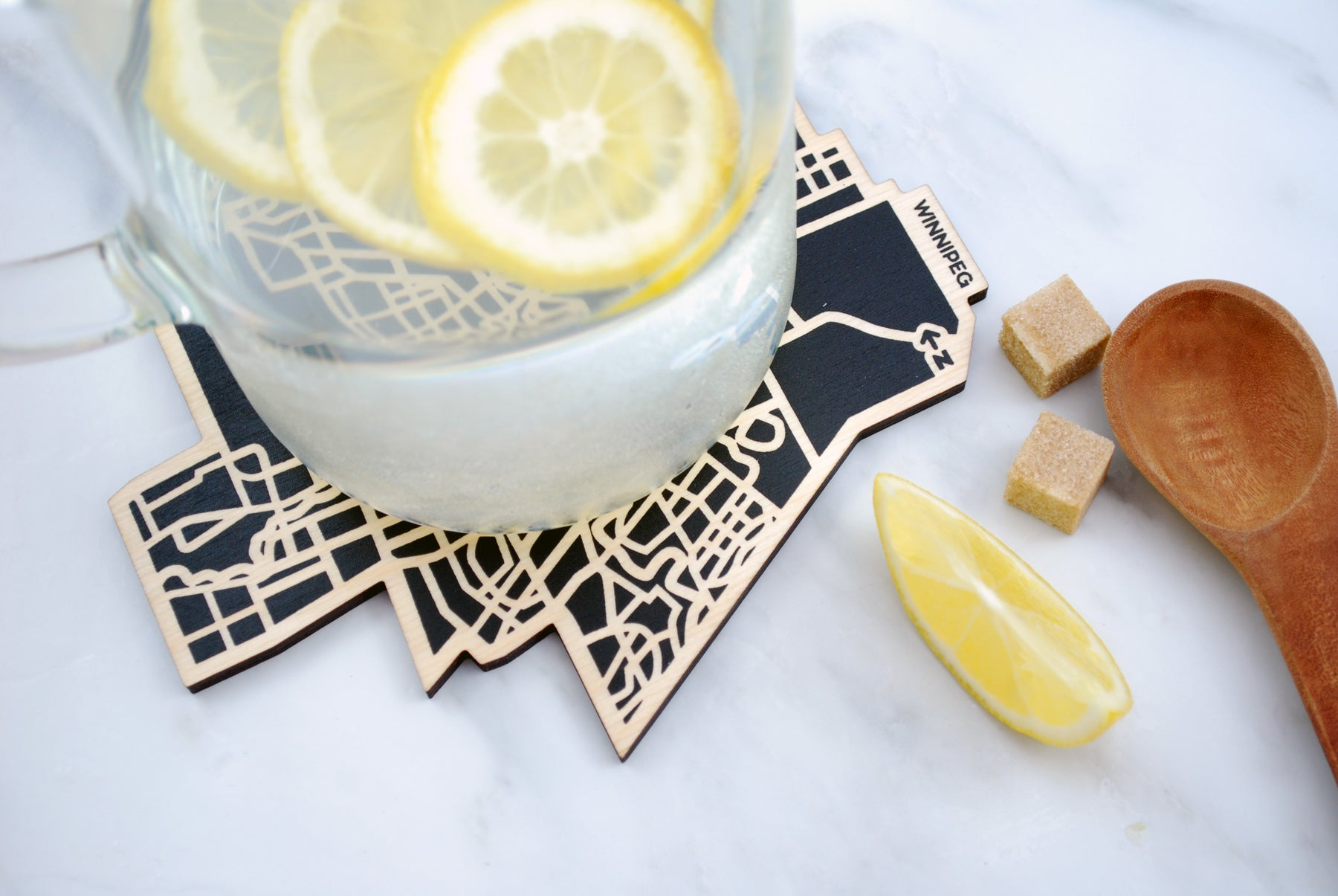 Winnipeg Map Trivet (Printed)