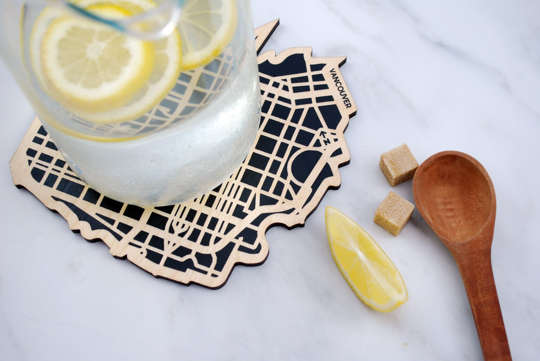 Vancouver Map Trivet (Printed)