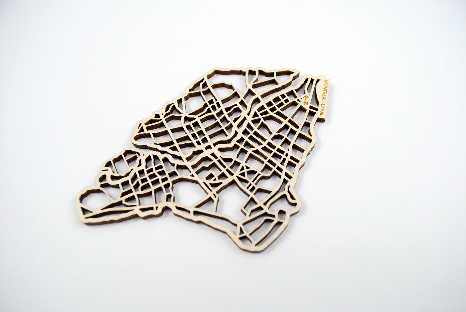 Montréal-Laval Map Coasters (set of 4)
