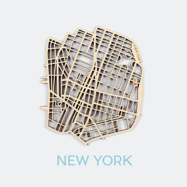 New York Map Coasters (set of 4)