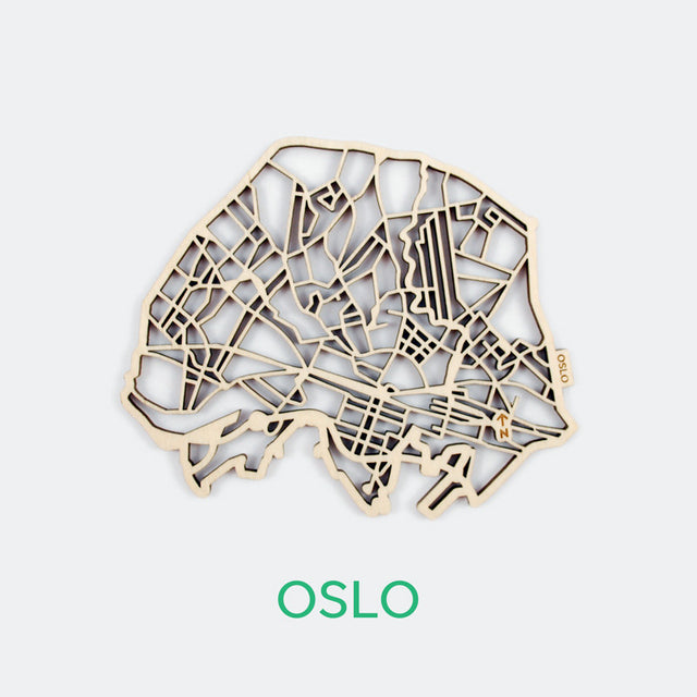 Oslo Map Coasters (set of 4)
