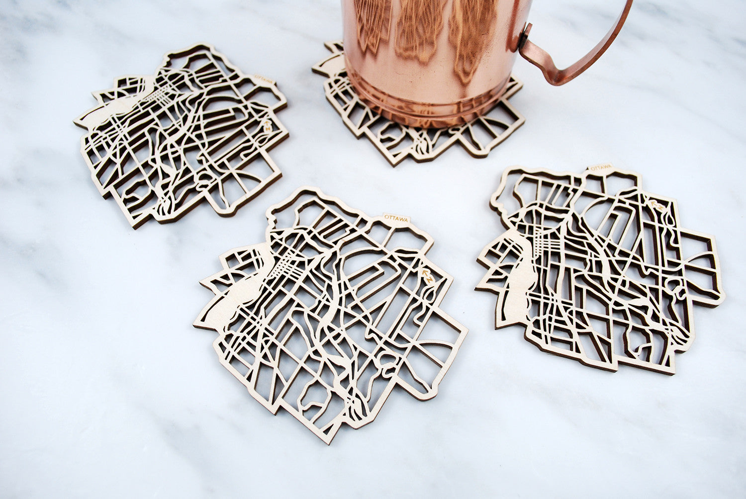 Ottawa Map Coasters (set of 4)