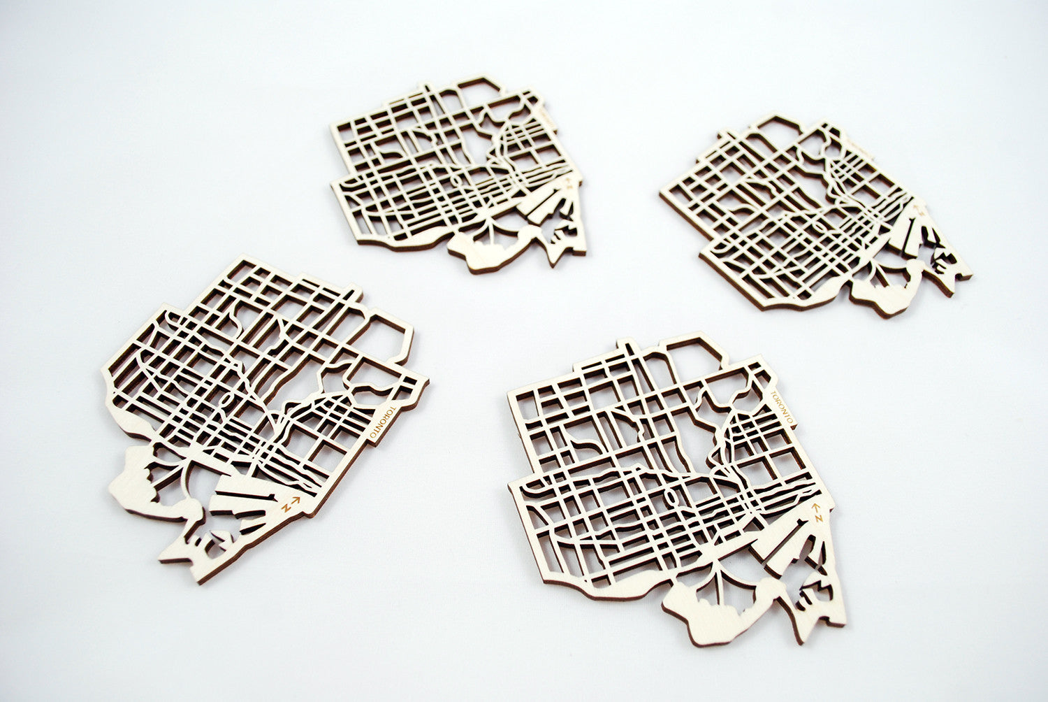 Toronto Map Coasters (set of 4)