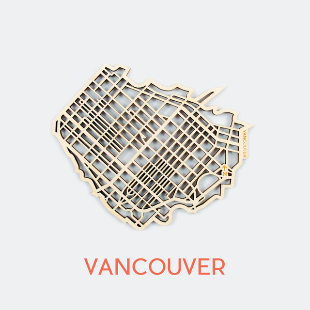 Vancouver Map Coasters (set of 4)