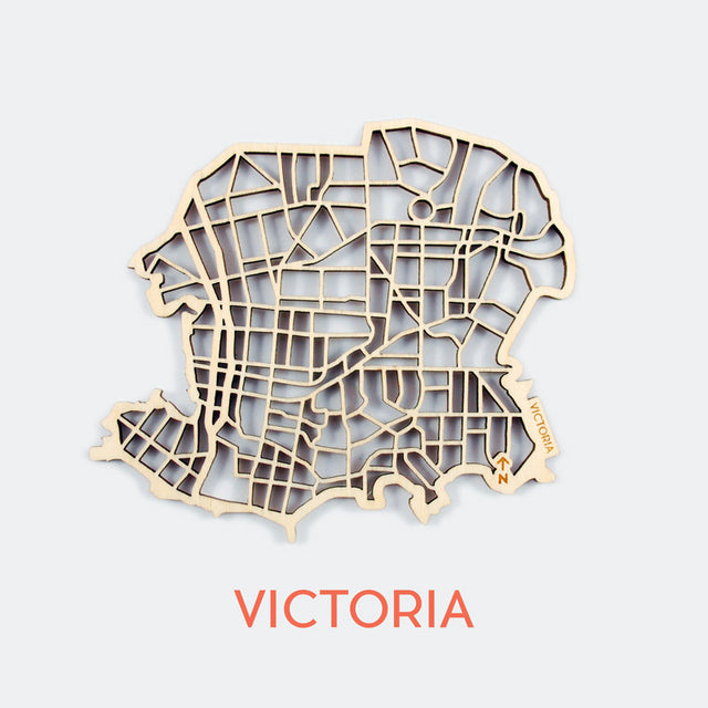 Victoria Map Coasters (set of 4)