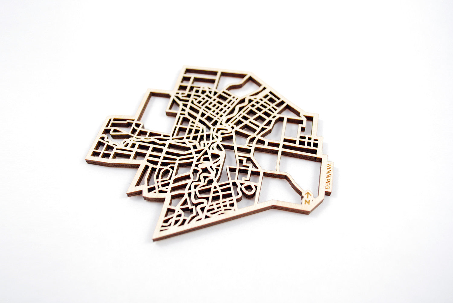 Winnipeg Map Coasters (set of 4)