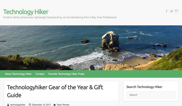 Technologyhiker Gear of the Year & Gift Guide