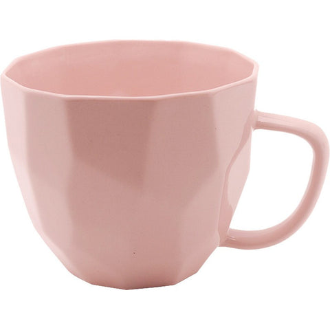 PINK GEOMETRIC MUG - Teal and Gold