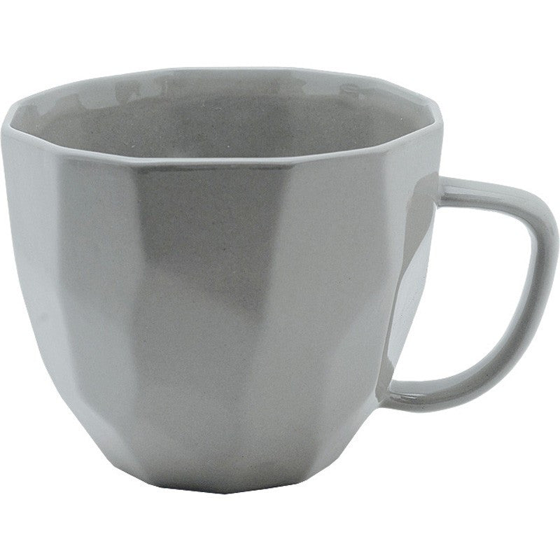 GREY GEOMETRIC MUG - Teal and Gold