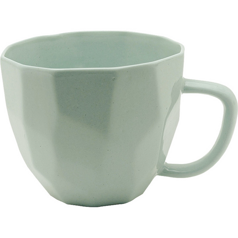 MINT GREEN GEOMETRIC MUG - Teal and Gold