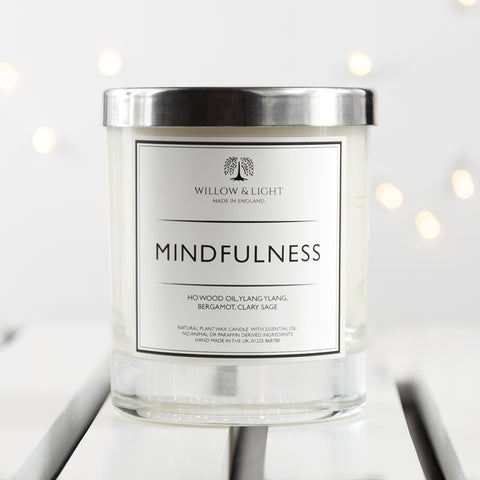 PERSONALISED MINDFULLNESS CANDLE - Teal and Gold