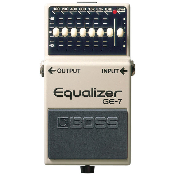 PEDAL DE EFECTO GRAPHIC EQUALIZER  BOSS  GE-7 - herguimusical