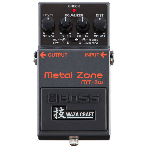 PEDAL COMPACTO METAL ZONE WAZA CRAFT   BOSS   MT-2W - herguimusical