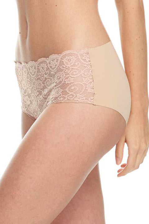Commando Double take bikini briefs in Ivory nude or black