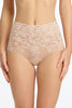 Commando Double take lace high waist bikini briefs in Ivory nude, blush pink or black