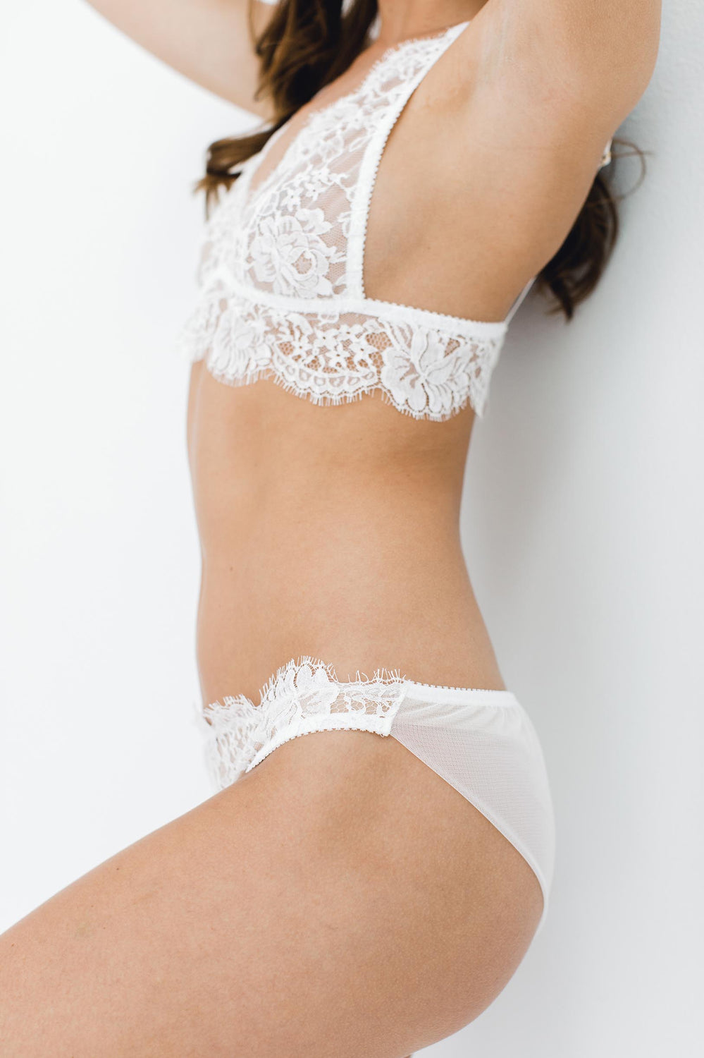 79fb30b7506 Dominique French lace bikini panties briefs in Ivory ...