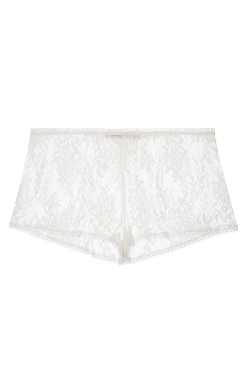 French lace shorties shorts in Ivory or Black