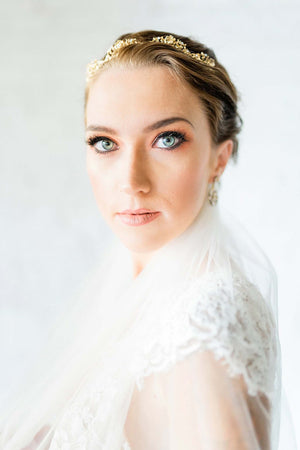Calais Alencon French Lace Veil in Ivory bridal Trousseau