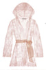 Camellia hooded lace robe in Rose Pink Honeymoon Lingerie