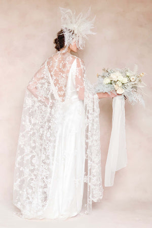 Gramercy French Embroidery Cape In Ivory