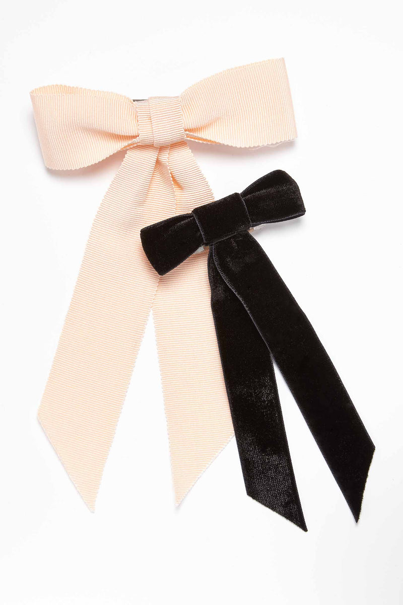 Jennifer Velvet Bow Barrette