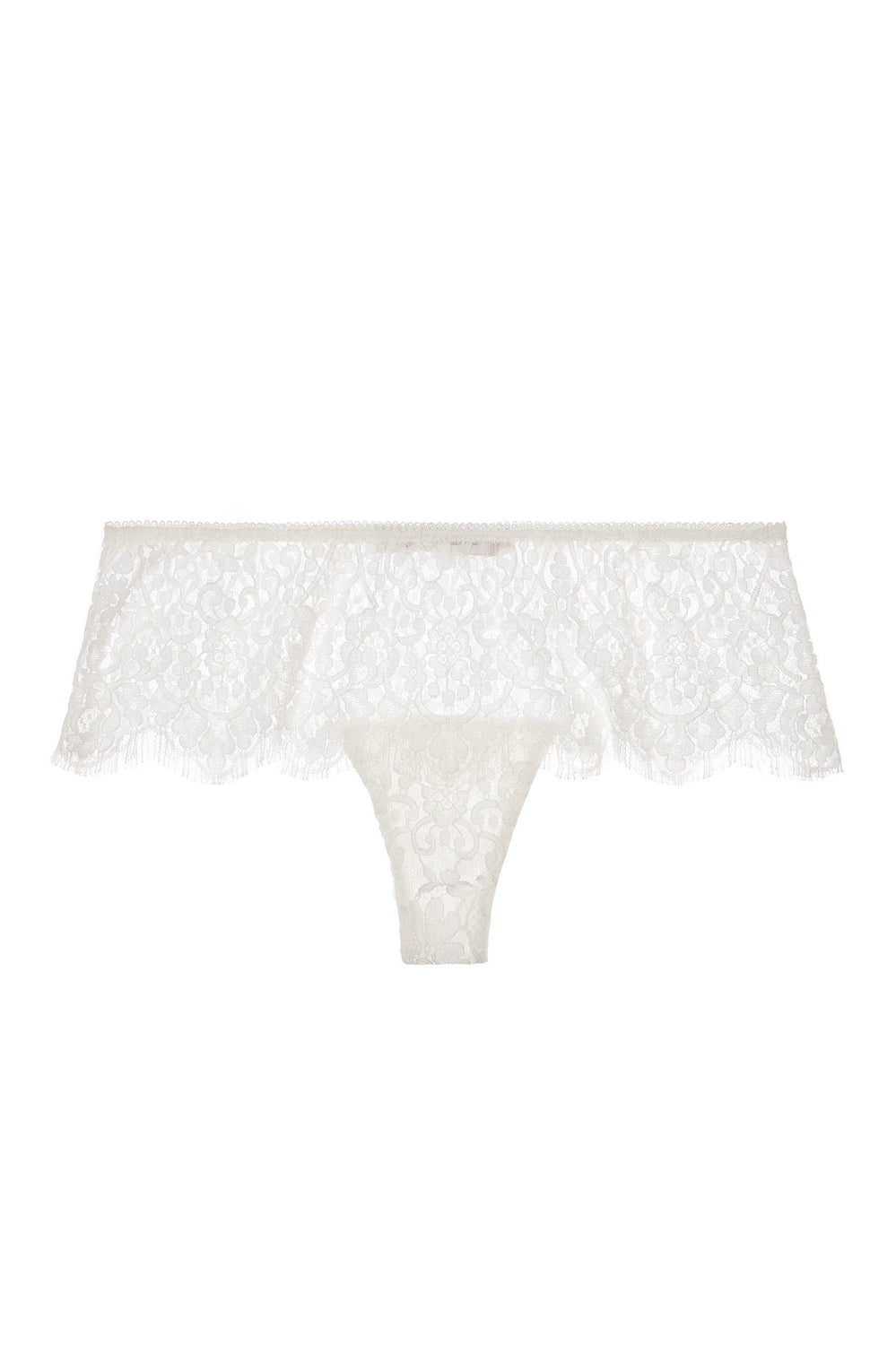 Jen French lace cheeky bikini briefs in Ivory