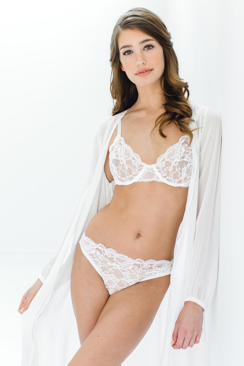 Peony French lace underwire Full cup bra