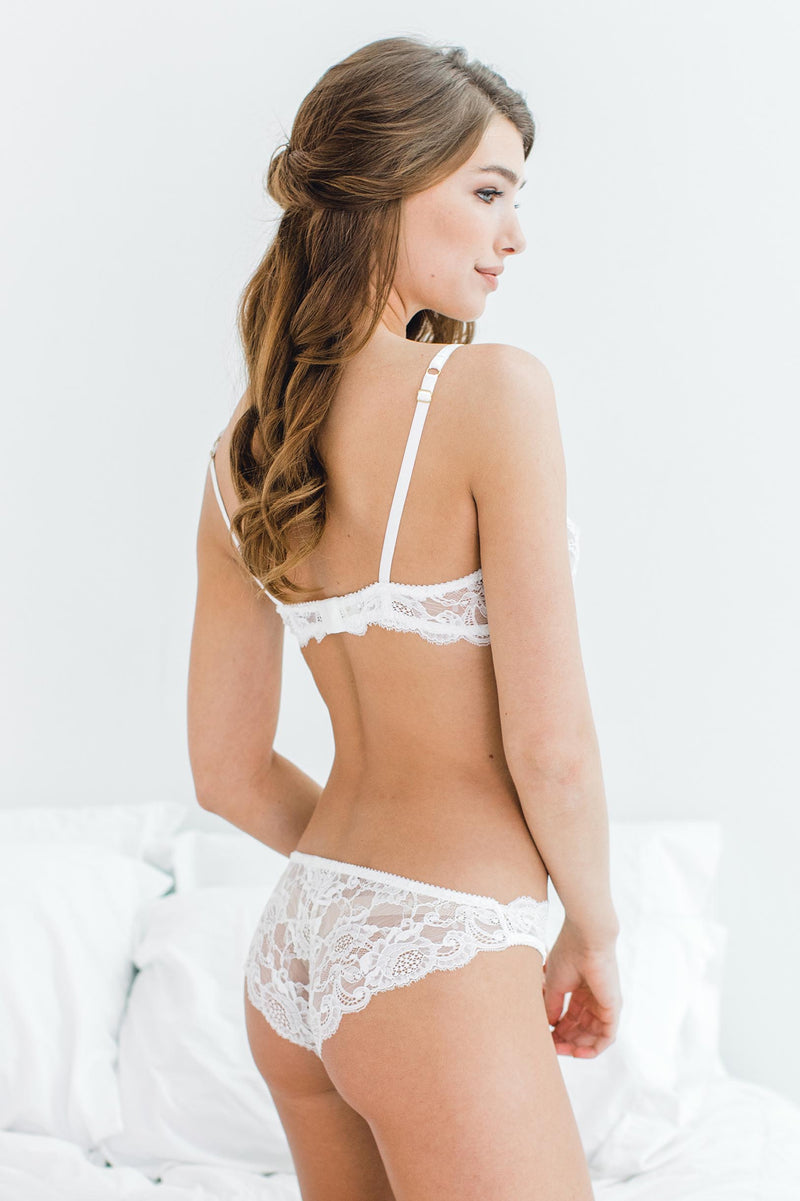 Peony French lace bikini panties briefs