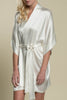 Samantha bridal silk kimono robe bridesmaids robes in Spring pastel colors - style 300