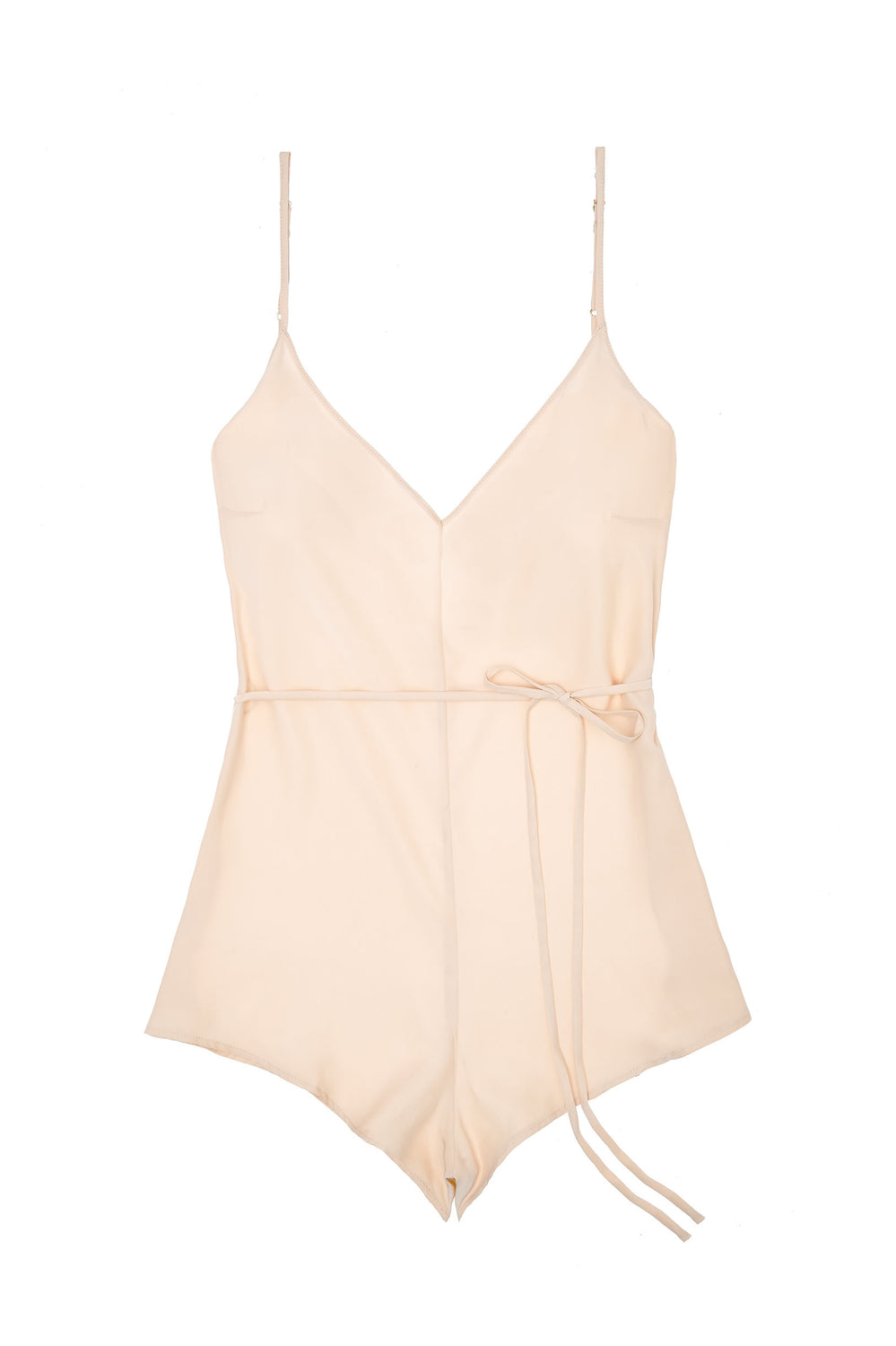 Dream Day Silk Romper Playsuit in Blush pink