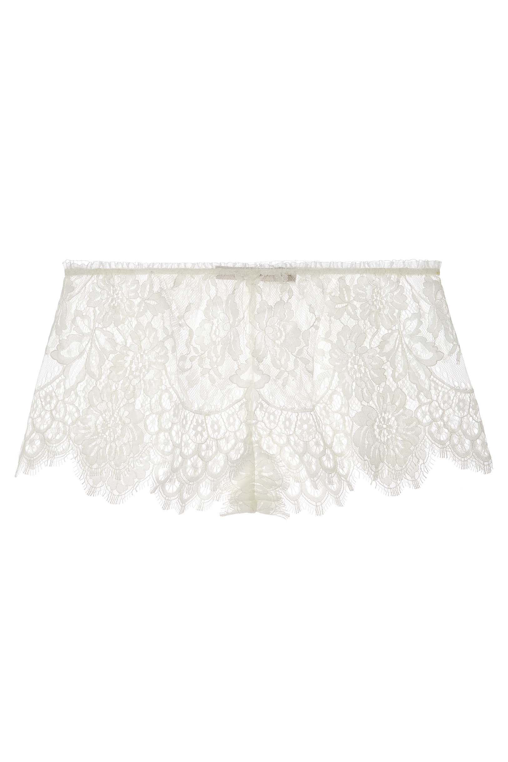 Swan Queen Scalloped lace shorties shorts in Ivory or Black