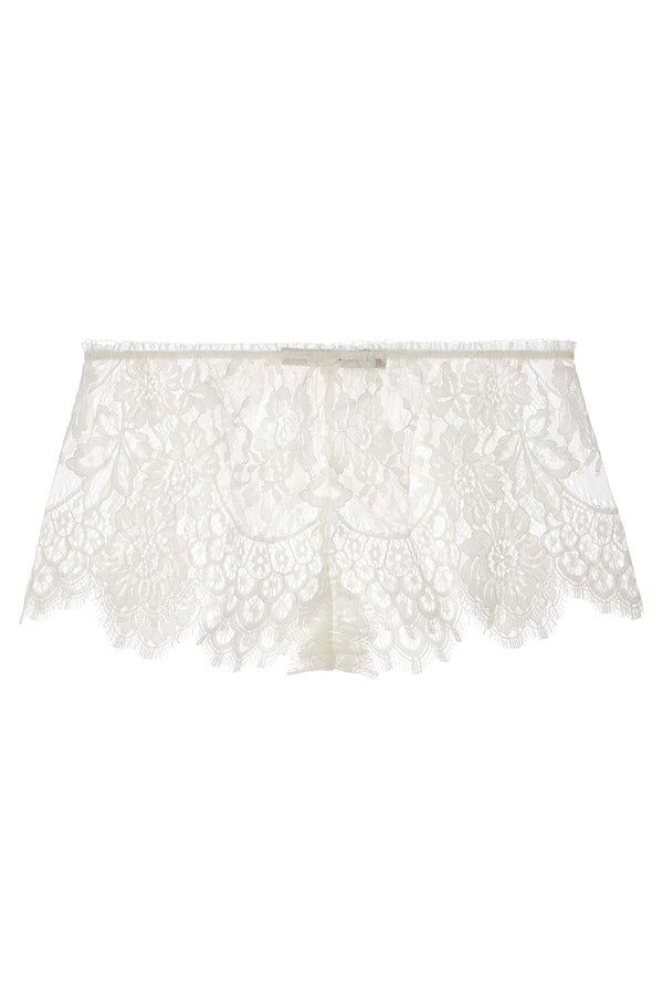 Swan Queen Scalloped lace shorties shorts in Ivory