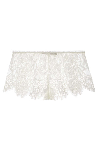 Folie Silk Shorties Knickers Shorts in Ivory