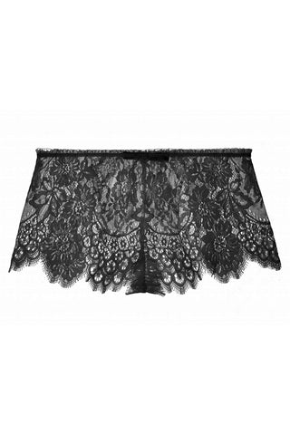 Lille Silk and lace wrap slip in Black