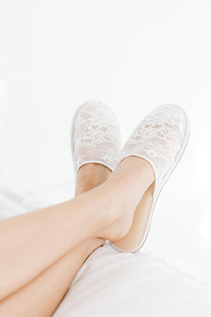 Priscilla lace slippers
