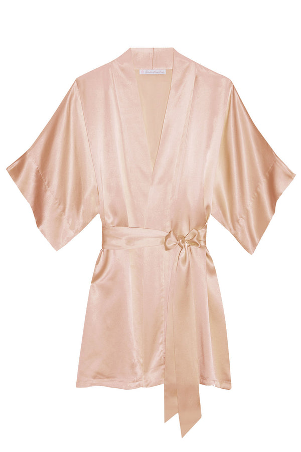 Samantha bridal silk kimono robe bridesmaids robes in Apricot