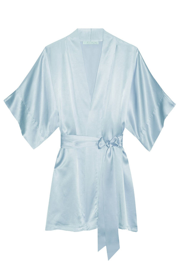 Samantha Silk bridal kimono bridesmaids robes in Sweet Pastels