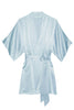 Samantha Silk bridal kimono bridesmaids robes in blush ivory pink lavender blue off white - 300