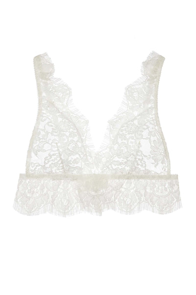 fc64fff104 Jen French soft cup lace bra bralette in Ivory – GirlandaSeriousDream.com