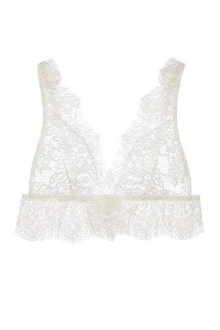 325ad2aacb5e6b Jen French soft cup lace bra bralette in Ivory. Girl aSeriousDream.   260.00. Olympia French Lace Camisole ...