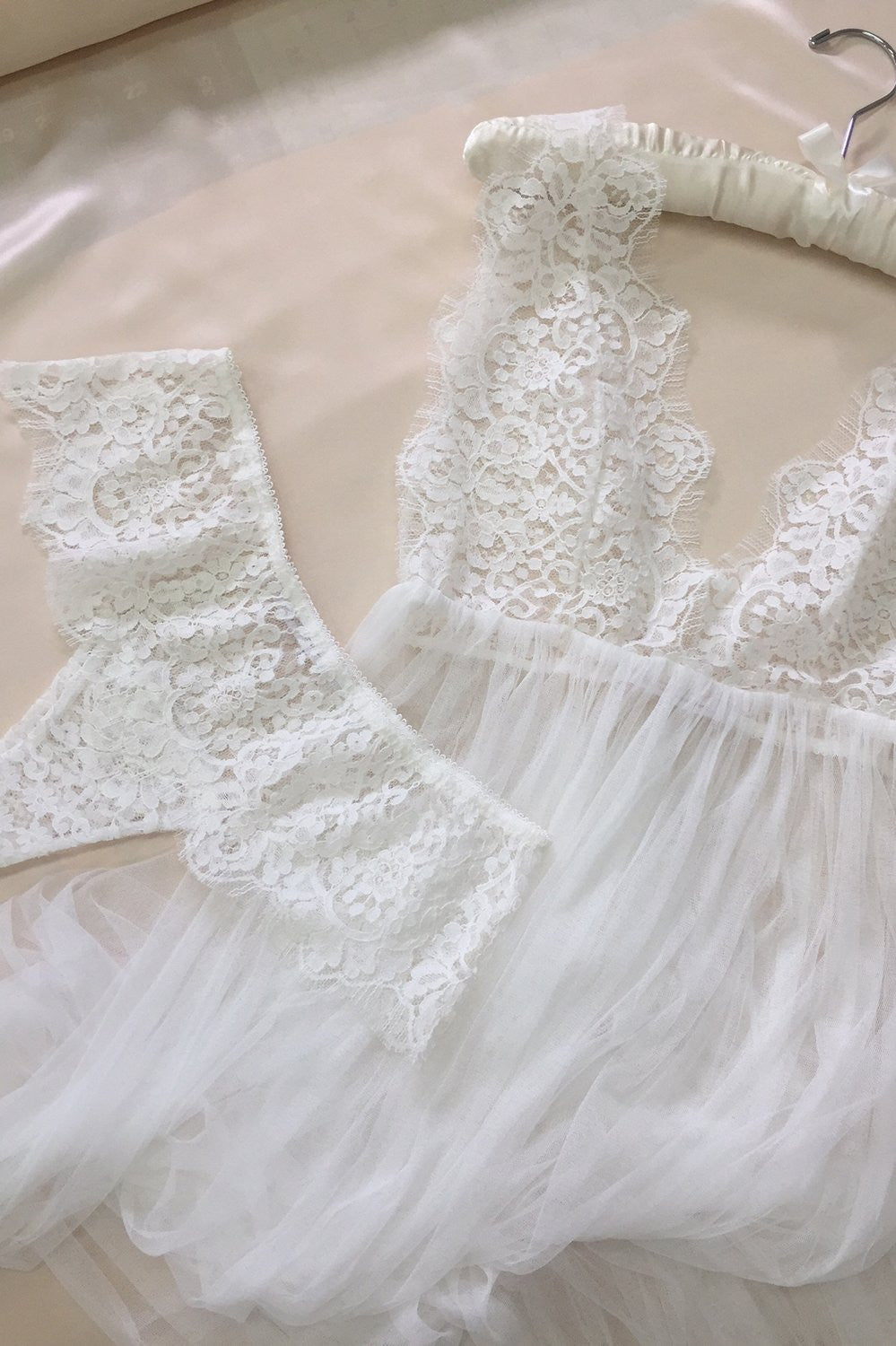 Jen French lace briefs in Ivory
