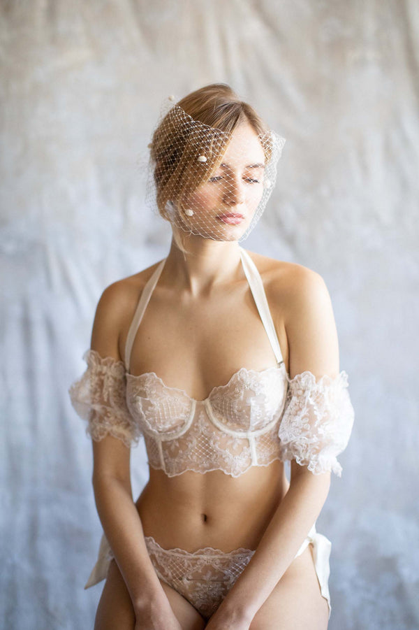 Joy Proctor for Girl & a Serious Dream French embroidery lingerie set